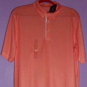 NWT: Walter Hagen Houndstooth Orange Polo, Size L